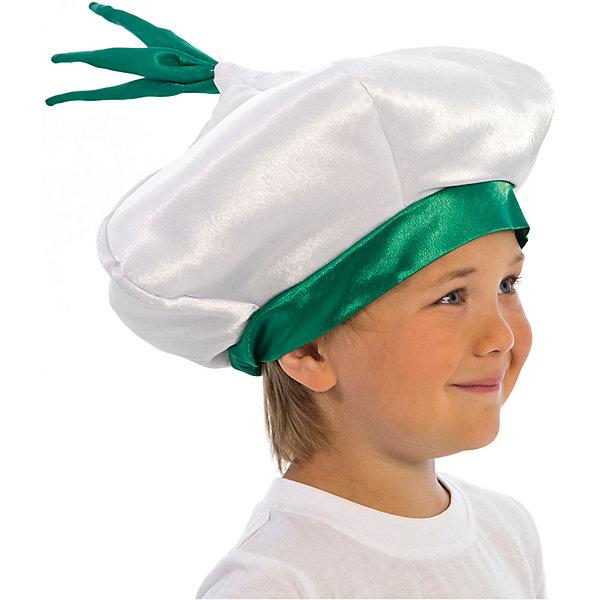 Шапочка ЧеснокДетские шляпы и колпаки<br>Характеристики товара:<br><br>• цвет: белый<br>• материал: текстиль<br>• сезон: круглый год<br>• особенности модели: для праздника<br>• страна бренда: Россия<br>• страна изготовитель: Россия<br><br>Удобная детская шапка Чеснок поможет создать для ребенка подходящий образ для праздника или сценки. Карнавальная шапка для ребенка держит объем благодаря синтепону и крепсаттину, внутри детской шапки - хлопковая подкладка. Держится она благодаря резинке.<br><br>Шапочку Чеснок Вестифика можно купить в нашем интернет-магазине.<br><br>Ширина мм: 450<br>Глубина мм: 80<br>Высота мм: 350<br>Вес г: 50<br>Возраст от месяцев: 60<br>Возраст до месяцев: 108<br>Пол: Унисекс<br>Возраст: Детский<br>SKU: 7238880