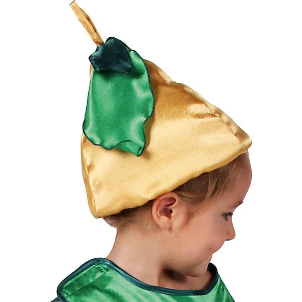 Шапочка ГрушаНовинки для праздника<br>Характеристики товара:<br><br>• цвет: желтый<br>• материал: текстиль<br>• сезон: круглый год<br>• особенности модели: для праздника<br>• страна бренда: Россия<br>• страна изготовитель: Россия<br><br>Детская шапка в виде груши комфортно сидит на голове благодаря резинке. Шапка для ребенка - полноценный наряд для праздника или сценки. Карнавальная шапка для детей сделана из синтепона и крепсатина, подкладка - из хлопка. <br><br>Шапочку Груша Вестифика можно купить в нашем интернет-магазине.<br><br>Ширина мм: 450<br>Глубина мм: 80<br>Высота мм: 350<br>Вес г: 50<br>Возраст от месяцев: 60<br>Возраст до месяцев: 108<br>Пол: Унисекс<br>Возраст: Детский<br>SKU: 7238885