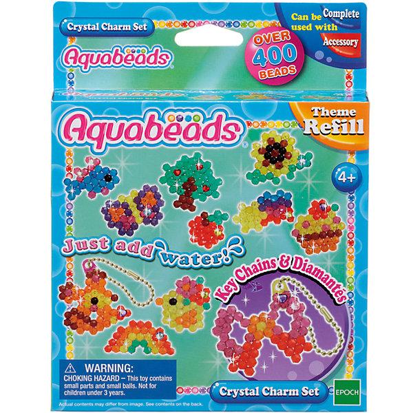 Мозаика из бусин Aquabeads Потрясающие брелочки, 400 бусинМозаика детская<br>Создавай потрясающие брелочки из бусин Aquabeads! В комплект входят более 400 бусин 9 разных цветов, 3 листа шаблонов, 2 цепочки для ключей, а также 3 бриллиантовых бусины, бриллиантовые наклейки и специальные аксессуары для украшения цепочек. <br>Для игры требуется аксессуар Форма для бусин, в комплект не входит. Для игры также могут понадобиться такие аксессуары, как Ручка для бусин, Гребешок и Бутылочка-распылитель для воды, в комплект не входят.<br>Ширина мм: 30; Глубина мм: 140; Высота мм: 180; Вес г: 110; Возраст от месяцев: 48; Возраст до месяцев: 144; Пол: Унисекс; Возраст: Детский; SKU: 7240123;