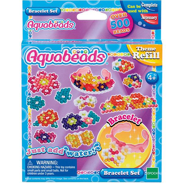 Набор бусин Aquabeads Браслетик, 500 бусинМозаика детская<br>Характеристики:<br><br>• объемные поделки без термической обработки;<br>• излелия создаются из специальных бусин Aquabeads;<br>• шаблоны подскажут девочке, как создавать украшения из бусин;<br>• самоклеющаяся мозаика предназначена для создания ярких аксессуаров;<br>• материал: пластик;<br>• состав набора: 500 бусин Aquabeads 8 цветов, шаблон, браслетик;<br>• обратите внимание: форма для бусин, ручка для бусин, бутылочка-распылитель для воды и гребешок приобретаются отдельно;<br>• размер упаковки: 18х14х3 см;<br>• вес: 110 г.<br><br>Набор для творчества Aquabeads «Браслетики» можно купить в нашем интернет-магазине.<br><br>Ширина мм: 30<br>Глубина мм: 140<br>Высота мм: 180<br>Вес г: 110<br>Возраст от месяцев: 48<br>Возраст до месяцев: 144<br>Пол: Унисекс<br>Возраст: Детский<br>SKU: 7240125