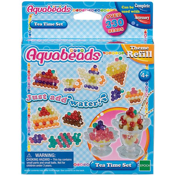 Набор бусин Aquabeads Чаепитие, 330 бусинМозаика детская<br>Чудесный набор, в комплект которого входят более 330 бусин 9 разных цветов, двусторонний лист шаблонов, цепочка для ключей, а также два специальных аксессуара для великолепного чаепития: стаканчик для мусса и стаканчик для пломбира, с которыми можно создавать объемные игрушки из бусин! Их также можно использовать как брелочки для ключей. <br>Для игры требуется аксессуар Форма для бусин, в комплект не входит. Для игры также могут понадобиться такие аксессуары, как Ручка для бусин, Гребешок и Бутылочка-распылитель для воды, в комплект не входят.<br>Ширина мм: 40; Глубина мм: 140; Высота мм: 180; Вес г: 100; Возраст от месяцев: 48; Возраст до месяцев: 144; Пол: Унисекс; Возраст: Детский; SKU: 7240126;
