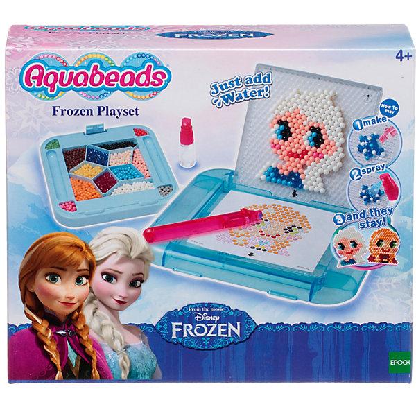 Мозаика из бусин Aquabeads Холодное сердце. Эльза, 800 бусинМозаика детская<br>Данный набор, созданный по мотивам мультфильма Холодное сердце компании Disney, позволит воссоздать полюбившихся персонажей, таких как Анна и Эльза, а также множество красивых снежинок. В комплект входят форма для бусин, палитра с крышкой, ручка для бусин, бутылочка-распылитель для воды, два двусторонних листа шаблонов, а также более 800 бусин 14 разных цветов.<br><br>Ширина мм: 95<br>Глубина мм: 250<br>Высота мм: 210<br>Вес г: 574<br>Возраст от месяцев: 48<br>Возраст до месяцев: 144<br>Пол: Унисекс<br>Возраст: Детский<br>SKU: 7240131