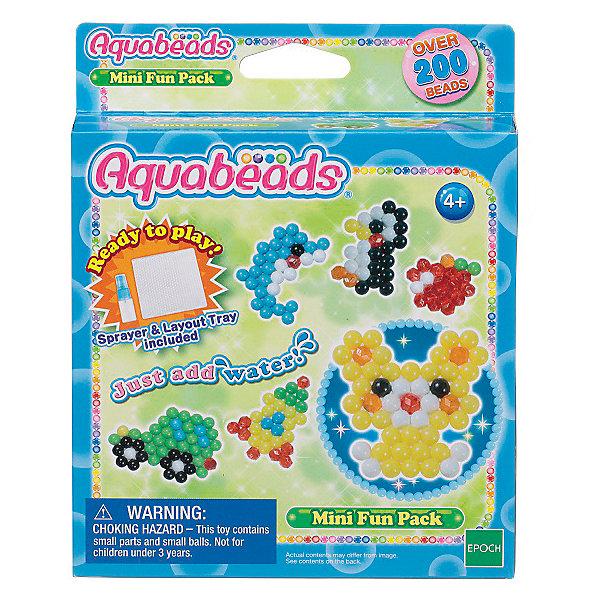 Набор бусин Aquabeads Веселые игрушки, 200 бусинМозаика детская<br>Мини набор Веселые игрушки содержит 200 бусин, лист шаблона, а также два незаменимых аксессуара для игры: форма для бусин и бутылочка-распылитель для воды! Все, что нужно для творчества сразу в одном наборе!<br><br>Ширина мм: 20<br>Глубина мм: 140<br>Высота мм: 180<br>Вес г: 103<br>Возраст от месяцев: 48<br>Возраст до месяцев: 144<br>Пол: Унисекс<br>Возраст: Детский<br>SKU: 7240133