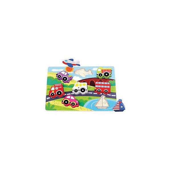 Деревянная рамка-вкладыш Mapacha МашинкиДеревянные игрушки<br>Характеристики:<br><br>• возраст: от 3 лет<br>• в наборе: основа, 7 фигурок<br>• материал: дерево<br>• размер рамки: 29,5х21 см<br>• упаковка: пленка<br><br>Набор вкладыши-фигурки «Машинки» представляет собой основу с вырезанными в ней фигурками. В каждое отверстие вставлена соответствующая фигурка – вкладыш. Задача ребенка, основываясь на размерах и форме вкладыша подобрать для него нужное отверстие.<br><br>Вкладыши-фигурки «Машинки» познакомят малыша с транспортом, разовьют мелкую моторику, глазомер и усидчивость.<br><br>Игрушка выполнена из экологически чистого материала - дерева. Не имеет острых углов, безопасна для малыша.<br><br>Вкладыши-фигурки Машинки можно купить в нашем интернет-магазине.<br>Ширина мм: 9999; Глубина мм: 9999; Высота мм: 9999; Вес г: 440; Возраст от месяцев: 36; Возраст до месяцев: 2147483647; Пол: Унисекс; Возраст: Детский; SKU: 7240472;