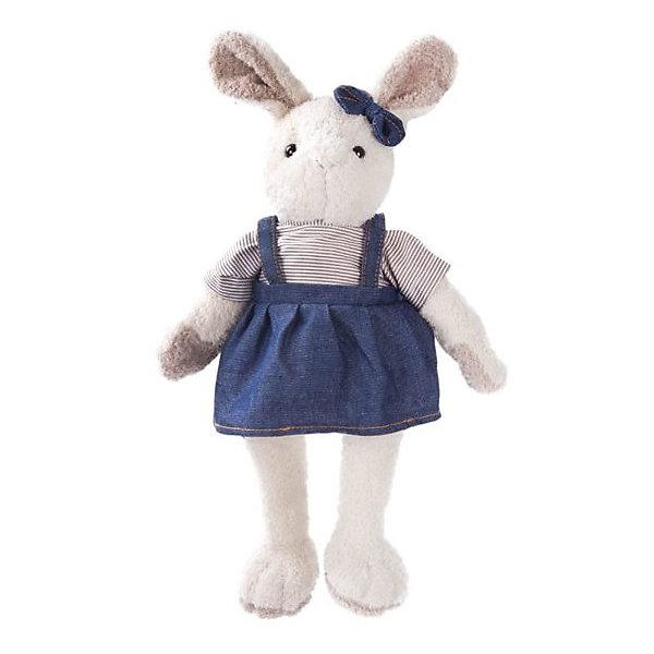 Мягкая игрушка Angel Collection Зайка Мэри в синем, 23 смМягкие игрушки животные<br>Характеристики:<br><br>• возраст: от 3 лет<br>• высота: 23 см.<br>• материал: искусственный мех, трикотаж, пластмасса<br>• наполнитель: полиэфирное волокно, полиэтиленовые гранулы<br>• уход: допускается ручная стирка при температуре 30 градусов<br><br>Стильная зайка Мэри понравится и детям, и взрослым. Игрушка очень мягкая и приятная на ощупь. Мэри одета в джинсовый сарафан и полосатую кофточку, а на ушке у нее повязан синий бант.<br><br>Игрушка изготовлена из искусственного меха и трикотажа, фурнитура выполнена из пластмассы. Наполнитель - полиэфирное волокно и полиэтиленовые гранулы.<br><br>Зайку Мэри 23см. можно купить в нашем интернет-магазине.<br>Ширина мм: 240; Глубина мм: 150; Высота мм: 100; Вес г: 220; Возраст от месяцев: 36; Возраст до месяцев: 2147483647; Пол: Унисекс; Возраст: Детский; SKU: 7240476;