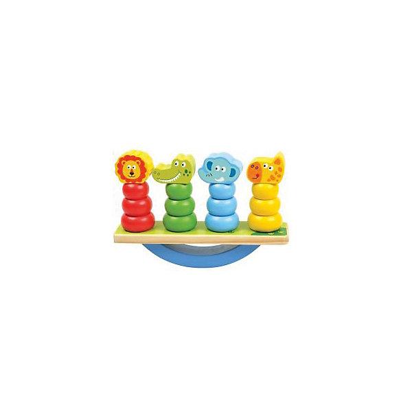 Игра-баланс Mapacha ЖивотныеРазвивающие игрушки<br>Характеристики:<br><br>• возраст: от 3 лет<br>• комплектация: основание, 4 фигурки<br>• материал: дерево<br>• вес: 590 гр.<br><br>Игра-баланс «Животные» - замечательный тренажер для малышей. Игра тренирует координацию движений и моторику рук, развивает логическое мышление.<br><br>Основание игрушки – неустойчивая платформа. На нее нужно установить 4 фигурки, входящих в комплект, так чтобы платформа сохранила баланс и не упала.<br><br>Игрушка выполнена из экологически чистого материала - дерева. Не имеет острых углов, безопасна для малыша.<br><br>Игру-баланс Животные можно купить в нашем интернет-магазине.<br>Ширина мм: 9999; Глубина мм: 9999; Высота мм: 9999; Вес г: 590; Возраст от месяцев: 36; Возраст до месяцев: 2147483647; Пол: Унисекс; Возраст: Детский; SKU: 7240485;