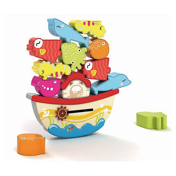 Игра-баланс Жирафики Морской мирДеревянные игрушки<br>Характеристики:<br><br>• возраст: от 3 лет<br>• комплектация: основание, 9 фигурок<br>• материал: дерево<br>• размер упаковки: 27х32х4 см.<br>• вес: 640 гр.<br><br>Игра-баланс «Морской мир» - замечательный тренажер для малышей. Игра тренирует координацию движений и моторику рук, развивает логическое мышление.<br><br>Основание игрушки – неустойчивая платформа в виде кораблика. На нее нужно установить как можно больше фигурок морских обитателей, входящих в комплект, так чтобы платформа сохранила баланс и не упала.<br><br>Игрушка выполнена из экологически чистого материала - дерева. Не имеет острых углов, безопасна для малыша.<br><br>Игру-баланс Морской мир можно купить в нашем интернет-магазине.<br>Ширина мм: 270; Глубина мм: 40; Высота мм: 320; Вес г: 640; Возраст от месяцев: 36; Возраст до месяцев: 2147483647; Пол: Унисекс; Возраст: Детский; SKU: 7240487;