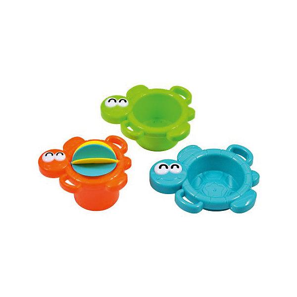 Игрушка-мельница для купания Водные черепашкиИгрушки для ванной<br>Водные черепашки - красочная игрушка-мельница для увлекательного купания малыша или для игры в песочек. Игрушка состоит из 3-х разноцветных черепашек разного размера. Самая маленькая черепашка оснащена крутящейся мельницей, на которую кроха будет весело лить воду или сыпать песок. Размер большой черепахи (ДхШ) составляет 12х8,5 см, средней - 10х8 см, маленькой - 9,5х7,5 см. Игрушка изготовлена из пластмассы. Рекомендованный возраст: 6 мес. +.<br><br>Ширина мм: 140<br>Глубина мм: 70<br>Высота мм: 190<br>Вес г: 130<br>Возраст от месяцев: 36<br>Возраст до месяцев: 2147483647<br>Пол: Унисекс<br>Возраст: Детский<br>SKU: 7240489