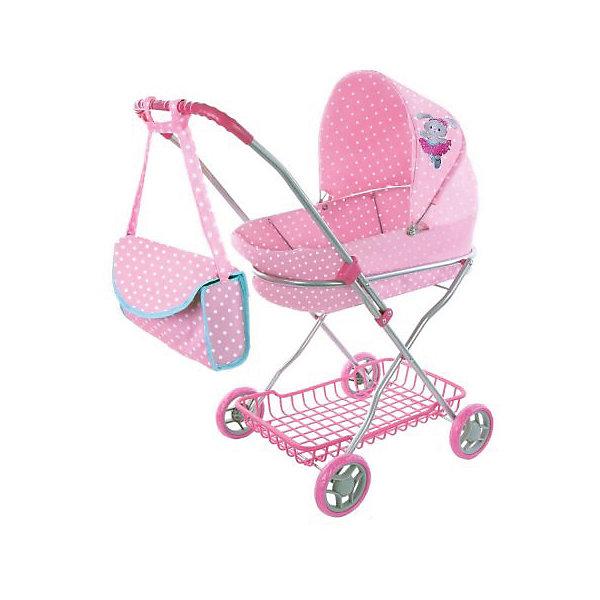 Коляска-люлька для кукол Mary Poppins Зайка, розоваяТранспорт и коляски для кукол<br>Характеристики:<br><br>• возраст: от 3 лет<br>• размер: 63х35х71 см.<br>• высота от пола до ручки: 67 см.<br>• длина люльки: 45 см.<br>• диаметр колес: 11 см.<br>• подходит для кукол высотой до 40 см<br>• материал: текстиль, пластик, металл<br>• размер упаковки: 65х37х15 см.<br>• вес: 2,65 кг.<br><br>Коляска-люлька «Зайка» от производителя Mary Poppins поможет девочке сделать прогулки с любимой куклой более удобными. Коляска очень похожа на настоящую. Она подойдет для любой куклы высотой до 40 см.<br><br>Каркас коляски изготовлен из металла и дополнен различными элементами из пластика. Коляска оснащена износостойкими колесами с резиновым покрытием. Управлять такой коляской достаточно легко, ведь она дополнена удобной ручкой с резиновой накладкой. В нижней части коляски расположена специальная корзинка для покупок, в которой девочка также сможет возить личные вещи и игрушки.<br><br>Люлька, которой снабжена коляска, изготовлена из плотного текстильного материала. У люльки имеется большой регулируемый капюшон, который поможет уберечь куклу от солнечных лучей или осадков. В комплекте также можно найти удобную сумочку, идеально подходящую к коляске по стилю и цветовому исполнению.<br><br>Коляска-люлька «Зайка» поможет девочке почувствовать себя взрослой, и сделает игровой сюжет более увлекательным и реалистичным.<br><br>Коляску люльку Зайка 63*35*71см. можно купить в нашем интернет-магазине.<br>Ширина мм: 630; Глубина мм: 350; Высота мм: 710; Вес г: 2650; Возраст от месяцев: 36; Возраст до месяцев: 2147483647; Пол: Женский; Возраст: Детский; SKU: 7240493;