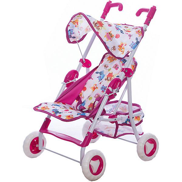 Прогулочная коляска для кукол Mary Poppins Фантазия, малиноваяТранспорт и коляски для кукол<br>Характеристики:<br><br>• возраст: от 3 лет<br>• размер: 42х35х65 см.<br>• подходит для кукол высотой до 40 см<br>• материал: текстиль, пластик<br>• вес: 2 кг.<br><br>Прогулочная коляска «Фантазия» от производителя Mary Poppins предназначена для сюжетно-ролевой игры в дочки-матери. Коляска очень похожа на настоящую. Она подойдет для любой куклы высотой до 40 см.<br><br>Коляска легко складывается, в сложенном виде занимает мало места, поэтому ее удобно хранить. Коляска оборудована ремнями безопасности, которые надежно фиксируют куклу в коляске. У коляски — складной тент, текстильная корзина для игрушек, удобная подножка, ручки с регулируемым поворотом. Чехол коляски сделан из материала с модным эксклюзивным принтом с забавными персонажами, узорами и цветочными мотивами.<br><br>Прогулочная коляска «Фантазия» поможет девочке почувствовать себя взрослой, и сделает игровой сюжет более увлекательным и реалистичным.<br><br>Коляску прогулочную Фантазия , малин.,  42*35*65см. можно купить в нашем интернет-магазине.<br>Ширина мм: 350; Глубина мм: 120; Высота мм: 500; Вес г: 2080; Возраст от месяцев: 36; Возраст до месяцев: 2147483647; Пол: Женский; Возраст: Детский; SKU: 7240495;