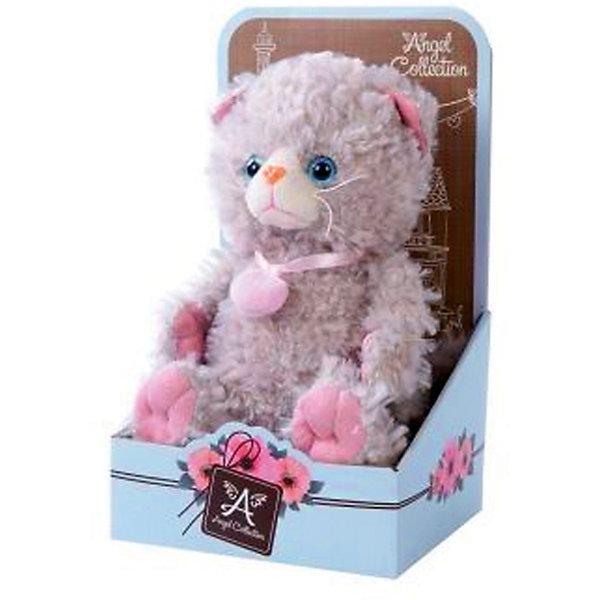 Мягкая игрушка Angel Collection Киска Cat story Любимчик, 23 смБренды кукол<br>Характеристики:<br><br>• возраст: от 3 лет<br>• высота: 20 см.<br>• материал: искусственный мех, трикотаж, пластмасса<br>• наполнитель: полиэфирное волокно, полиэтиленовые гранулы<br>• уход: допускается ручная стирка при температуре 30 градусов<br><br>Котик Любимчик из серии Angel Collection понравится и детям, и взрослым. Игрушка очень мягкая и приятная на ощупь. У котенка пушистая взъерошенная шерстка и голубые глазки, внутренняя поверхность ушей и лап отделаны розовым материалом. На шее у него висит украшение — округлый кулон, набитый синтепоном.<br><br>Игрушка изготовлена из искусственного меха и трикотажа, фурнитура выполнена из пластмассы. Наполнитель - полиэфирное волокно и полиэтиленовые гранулы.<br><br>Котика Cat story Любимчик можно купить в нашем интернет-магазине.<br>Ширина мм: 150; Глубина мм: 130; Высота мм: 250; Вес г: 280; Возраст от месяцев: 36; Возраст до месяцев: 2147483647; Пол: Унисекс; Возраст: Детский; SKU: 7240499;