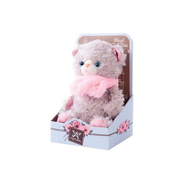Мягкая игрушка Angel Collection Киска Cat story Пушистик, 23 смМягкие игрушки животные<br>Характеристики:<br><br>• возраст: от 3 лет<br>• высота: 20 см.<br>• материал: искусственный мех, трикотаж, пластмасса<br>• наполнитель: полиэфирное волокно, полиэтиленовые гранулы<br>• уход: допускается ручная стирка при температуре 30 градусов<br><br>Забавный котенок в розовом шарфике из серии Angel Collection понравится и детям, и взрослым. Игрушка очень мягкая и приятная на ощупь. У котенка пушистая взъерошенная шерстка и голубые глазки, внутренняя поверхность ушей и лап отделаны розовым материалом.<br><br>Игрушка изготовлена из искусственного меха и трикотажа, фурнитура выполнена из пластмассы. Наполнитель - полиэфирное волокно и полиэтиленовые гранулы.<br><br>Котика Cat story Пушистик можно купить в нашем интернет-магазине.<br>Ширина мм: 150; Глубина мм: 130; Высота мм: 250; Вес г: 280; Возраст от месяцев: 36; Возраст до месяцев: 2147483647; Пол: Унисекс; Возраст: Детский; SKU: 7240501;