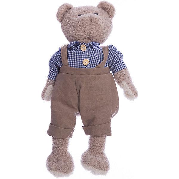 Мишка Мишенька 23см в голубом.Мягкие игрушки животные<br>Стильный медвежонок Мишенька понравится и детям, и взрослым! Такую игрушку очень приятно получить в подарок. Мишка одет в клетчатую рубашку на пуговицах и в комбенизон. Высота медвежонка составляет 23 см. Игрушка сделана из искусственного меха и трикотажа, фурнитура выполнена из пластмассы. Наполнитель - полиэфирное волокно и полиэтиленовые гранулы. Допускается ручная стирка при температуре 30 градусов. Рекомендованный возраст: 3 года +.<br><br>Ширина мм: 9999<br>Глубина мм: 9999<br>Высота мм: 9999<br>Вес г: 220<br>Возраст от месяцев: 36<br>Возраст до месяцев: 2147483647<br>Пол: Унисекс<br>Возраст: Детский<br>SKU: 7240524