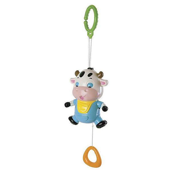 Музыкальная подвеска Жирафики Бычок ТофиИгрушки для новорожденных<br>Характеристики:<br><br>• возраст: от 0 месяцев<br>• материал: пластик<br>• упаковка: блистер на картоне<br>• размер упаковки: 16,5х6х22 см.<br>• вес: 260 гр.<br><br>Музыкальную игрушку «Бычок Тофи» можно подвесить на спинку кроватки или на ручку детского кресла.<br><br>Игрушка действует по принципу музыкальной шкатулки. Для включения музыки потяните одной рукой за колечко вниз, максимально вытянув шнур из игрушки и придерживая игрушку другой рукой. Во время звучания мелодии бычок шевелит ручками и ножками, поднимает и опускает глазки.<br><br>Игрушка развивает слуховые ощущения, а также способность фокусировать взгляд на объекте.<br><br>Музыкальную подвеску Бычок Тофи можно купить в нашем интернет-магазине.<br>Ширина мм: 165; Глубина мм: 60; Высота мм: 220; Вес г: 260; Возраст от месяцев: 36; Возраст до месяцев: 2147483647; Пол: Унисекс; Возраст: Детский; SKU: 7240528;