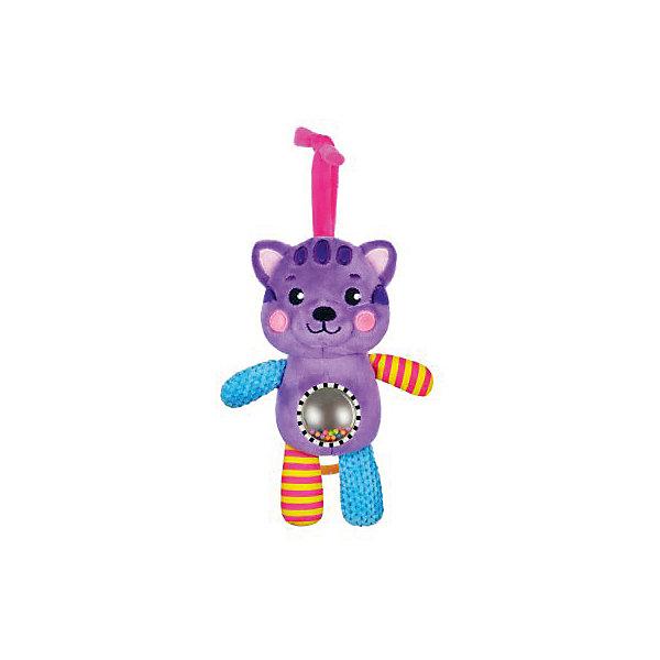 Музыкальная подвеска Жирафики КотенокИгрушки для новорожденных<br>Характеристики:<br><br>• возраст: от 0 месяцев<br>• материал: пластик, текстиль<br>• упаковка: блистер на картоне<br>• вес: 280 гр.<br><br>Музыкальная подвеска-погремушка «Котенок» отвлечет малыша от капризов, успокоит и будет стимулировать развитие слухового и зрительного восприятия.<br><br>На животике котенка расположен шар с безопасным зеркальцем и разноцветными пластиковыми шариками, которые гремят при движении. Игрушка обладает рядом звуковых эффектов, которые сделают ее еще более привлекательной в глазах малыша.<br><br>Игрушку можно подвесить к коляске, бортику кроватки, автокреслу.<br><br>Музыкальную подвеску-погремушку с зеркальцем Котенок можно купить в нашем интернет-магазине.<br><br>Ширина мм: 120<br>Глубина мм: 80<br>Высота мм: 240<br>Вес г: 280<br>Возраст от месяцев: 36<br>Возраст до месяцев: 2147483647<br>Пол: Унисекс<br>Возраст: Детский<br>SKU: 7240531