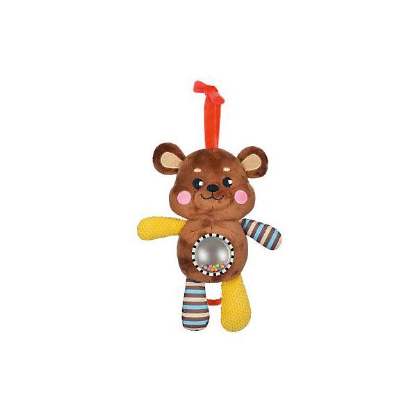 Музыкальная подвеска Жирафики МишкаИгрушки для новорожденных<br>Характеристики:<br><br>• возраст: от 0 месяцев<br>• материал: пластик, текстиль<br>• упаковка: блистер на картоне<br>• вес: 280 гр.<br><br>Музыкальная подвеска-погремушка «Мишка» отвлечет малыша от капризов, успокоит и будет стимулировать развитие слухового и зрительного восприятия.<br><br>На животике медвежонка расположен шар с безопасным зеркальцем и разноцветными пластиковыми шариками, которые гремят при движении. Игрушка обладает рядом звуковых эффектов, которые сделают ее еще более привлекательной в глазах малыша.<br><br>Игрушку можно подвесить к коляске, бортику кроватки, автокреслу.<br><br>Музыкальную подвеску-погремушку с зеркальцем Мишка можно купить в нашем интернет-магазине.<br>Ширина мм: 120; Глубина мм: 80; Высота мм: 240; Вес г: 280; Возраст от месяцев: 36; Возраст до месяцев: 2147483647; Пол: Унисекс; Возраст: Детский; SKU: 7240533;