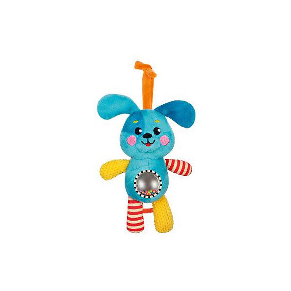 Музыкальная подвеска Жирафики ЩенокИгрушки для новорожденных<br>Характеристики:<br><br>• возраст: от 0 месяцев<br>• материал: пластик, текстиль<br>• упаковка: блистер на картоне<br>• вес: 280 гр.<br><br>Музыкальная подвеска-погремушка «Щенок» отвлечет малыша от капризов, успокоит и будет стимулировать развитие слухового и зрительного восприятия.<br><br>На животике щенка расположен шар с безопасным зеркальцем и разноцветными пластиковыми шариками, которые гремят при движении. Игрушка обладает рядом звуковых эффектов, которые сделают ее еще более привлекательной в глазах малыша.<br><br>Игрушку можно подвесить к коляске, бортику кроватки, автокреслу.<br><br>Музыкальную подвеску-погремушку с зеркальцем Щенок можно купить в нашем интернет-магазине.<br>Ширина мм: 120; Глубина мм: 80; Высота мм: 240; Вес г: 280; Возраст от месяцев: 36; Возраст до месяцев: 2147483647; Пол: Унисекс; Возраст: Детский; SKU: 7240534;