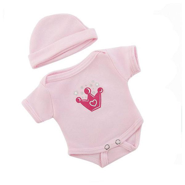 Одежда для куклы 38-43см, боди с шапочкой.Одежда для кукол<br>Куклы тоже любят менять наряды! И для них создается стильная и модная одежда, похожая на одежду для настоящих малышей. Этот костюмчик, состоящий из боди и шапочки, из эксклюзивной коллекции ТМ Mary Poppins, подойдет кукле с ростом 38-43 см. Костюм можно стирать в стиральной машине при температуре 30 ?С.<br><br>Ширина мм: 220<br>Глубина мм: 10<br>Высота мм: 330<br>Вес г: 120<br>Возраст от месяцев: 36<br>Возраст до месяцев: 2147483647<br>Пол: Женский<br>Возраст: Детский<br>SKU: 7240539