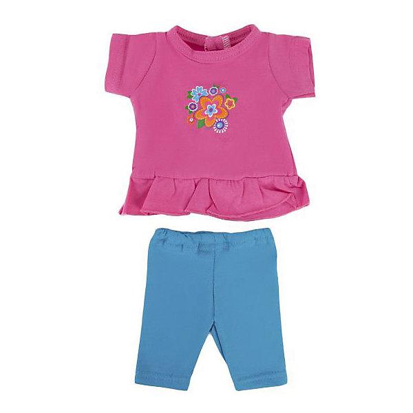 Одежда для куклы Mary Poppins Цветочек туника и леггинсы, 38-43 см (розово-голубой)Одежда для кукол<br>Характеристики:<br><br>• возраст: от 3 лет<br>• в комплекте: туника, легинсы, пластиковая вешалка<br>• высота куклы: 38-43 см.<br>• материал: текстиль<br>• упаковка: чехол<br>• уход: стирка в стиральной машине при температуре 30 ?С<br><br>Комплект одежды станет отличным дополнением к гардеробу любой куклы высотой от 38 до 43 см. Одежда отличается реалистичным дизайном и продуманным кроем.<br><br>В наборе девочки найдут яркие синие легинсы и розовую тунику с рукавами, украшенную разноцветными цветочками на груди.<br><br>Одежда для куклы сшита из мягкой, приятной на ощупь, плотной ткани. Швы на изделиях выполнены очень качественно и аккуратно. Яркие цвета одежды останутся такими же даже после стирки, так как ткань окрашена стойкими красителями.<br><br>Комплект одежды упакован в прозрачный чехол на застежках, а вешалка поможет малышкам удобно хранить набор в шкафу.<br><br>Одежду для куклы 38-43см, Тунику и легинсы Цветочек можно купить в нашем интернет-магазине.<br>Ширина мм: 230; Глубина мм: 10; Высота мм: 300; Вес г: 50; Возраст от месяцев: 36; Возраст до месяцев: 2147483647; Пол: Женский; Возраст: Детский; SKU: 7240546;