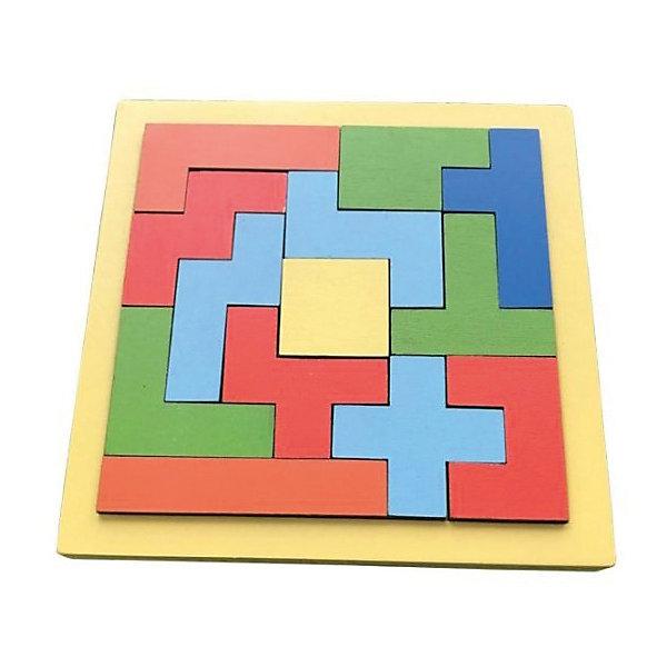 Вкладыш-пазл Mapacha ТэтрисДеревянные игрушки<br>Характеристики:<br><br>• возраст: от 3 лет<br>• количество элементов: 13<br>• материал: дерево<br><br>Пазл «Тэтрис» - это логическая игра. Цель игры: сопоставить элементы пазла по форме и линиям с соседними таким образом, чтобы вместе они составили квадрат.<br><br>Складывая пазл, ребенок разовьет мелкую моторику рук и начнёт лучше координировать свои движения.<br><br>Игрушка выполнена из экологически чистого материала – дерева. Окрашена в яркие цвета, нетоксичными красками.<br><br>Пазл Тэтрис можно купить в нашем интернет-магазине.<br>Ширина мм: 140; Глубина мм: 140; Высота мм: 10; Вес г: 150; Возраст от месяцев: 36; Возраст до месяцев: 2147483647; Пол: Унисекс; Возраст: Детский; SKU: 7240554;