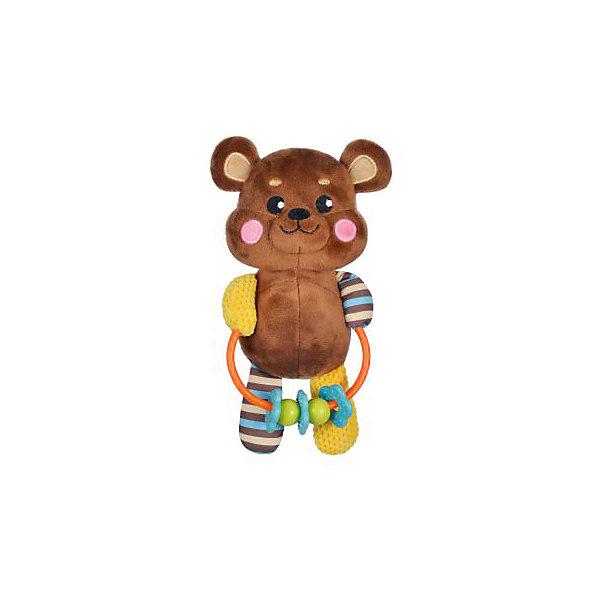 Развивающая игрушка Жирафики Мишка с погремушкойИгрушки для новорожденных<br>Характеристики:<br><br>• возраст: от 0 месяцев<br>• материал: пластик, текстиль<br>• вес: 160 гр.<br><br>Игрушка «Мишка» отвлечет малыша от капризов, успокоит и будет стимулировать развитие слухового и зрительного восприятия, тактильных ощущений и координации движений.<br><br>Яркая игрушка выполнена в виде забавного медвежонка, держащего в лапках кольцо с нанизанными на него мелкими предметами, которые ребенок может перемещать с места на место.<br><br>Развивающую игрушку с погремушками Мишка можно купить в нашем интернет-магазине.<br>Ширина мм: 9999; Глубина мм: 9999; Высота мм: 9999; Вес г: 160; Возраст от месяцев: 36; Возраст до месяцев: 2147483647; Пол: Унисекс; Возраст: Детский; SKU: 7240567;