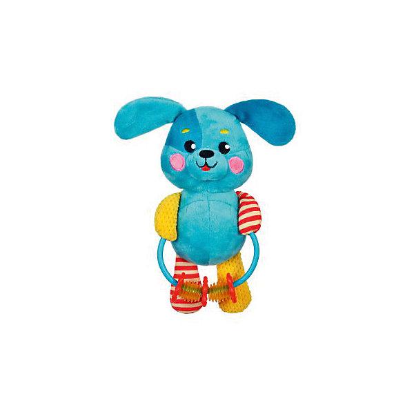 Развивающая игрушка Жирафики Щенок с погремушкойИгрушки для новорожденных<br>Характеристики:<br><br>• возраст: от 0 месяцев<br>• материал: пластик, текстиль<br>• вес: 160 гр.<br><br>Игрушка «Щенок» отвлечет малыша от капризов, успокоит и будет стимулировать развитие слухового и зрительного восприятия, тактильных ощущений и координации движений.<br><br>Яркая игрушка выполнена в виде забавного щенка, держащего в лапках кольцо с нанизанными на него мелкими предметами, которые ребенок может перемещать с места на место.<br><br>Развивающую игрушку с погремушками Щенок можно купить в нашем интернет-магазине.<br>Ширина мм: 170; Глубина мм: 50; Высота мм: 310; Вес г: 160; Возраст от месяцев: 36; Возраст до месяцев: 2147483647; Пол: Унисекс; Возраст: Детский; SKU: 7240568;