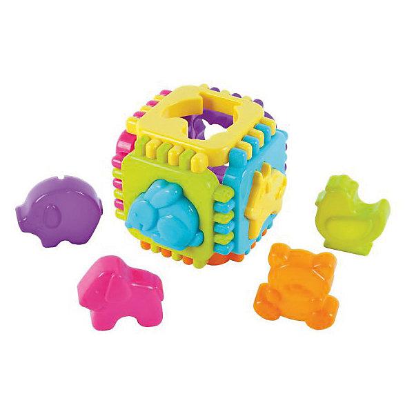 Сортер Жирафики Веселые животныеРазвивающие игрушки<br>Характеристики:<br><br>• возраст: от 1 года<br>• комплектация: куб, 6 фигурок<br>• размер: 10х10х10 см.<br>• материал: пластик<br><br>Этот сортер научит малыша подбирать предметы по форме, а также различать и соотносить между собой фигурки разных животных.<br><br>Задача ребенка — протолкнуть через отверстия в сторонах куба фигурки (поросенка, собачку, котенка, курочку, зайку и лошадку), совпадающих с этими отверстиями по контурам.<br><br>Куб разбирается на части, детали куба соединяются между собой по принципу пазлов.<br><br>Сортер Веселые животные, 10х10х10 см можно купить в нашем интернет-магазине.<br><br>Ширина мм: 120<br>Глубина мм: 50<br>Высота мм: 270<br>Вес г: 220<br>Возраст от месяцев: 36<br>Возраст до месяцев: 2147483647<br>Пол: Унисекс<br>Возраст: Детский<br>SKU: 7240575