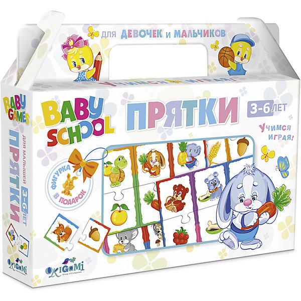 Для Малышей.Наст.игра.Чем.+фигурка.Прятки.03062Окружающий мир<br>Характеристики товара:<br><br>• возраст: от 3 лет; <br>• размер упаковки: 22x17x4 см.;<br>• вес: 175 гр.;<br>• из чего сделана игрушка (состав): картон;<br>• комплект: 24 карточки, фигурка;<br>• упаковка: картонный чемоданчик;<br>• страна обладатель бренда: Россия.<br><br>Настольная игра «Прятки» поможет ребенку весело провести время в одиночку или в компании родителей. <br><br>В игре предстоит совместить животное и еду, которую оно употребляет, например, ежик - гриб, котенок - молоко. Пазловые замочки не дадут совершить ошибку: неподходящие друг к другу элементы просто не состыкуются.<br><br>Игра поможет ребенку  познакомиться с представителями животного мира.<br><br>Настольную игру можно купить в нашем интернет-магазине.<br><br>Ширина мм: 220<br>Глубина мм: 170<br>Высота мм: 40<br>Вес г: 175<br>Возраст от месяцев: 36<br>Возраст до месяцев: 2147483647<br>Пол: Унисекс<br>Возраст: Детский<br>SKU: 7240713