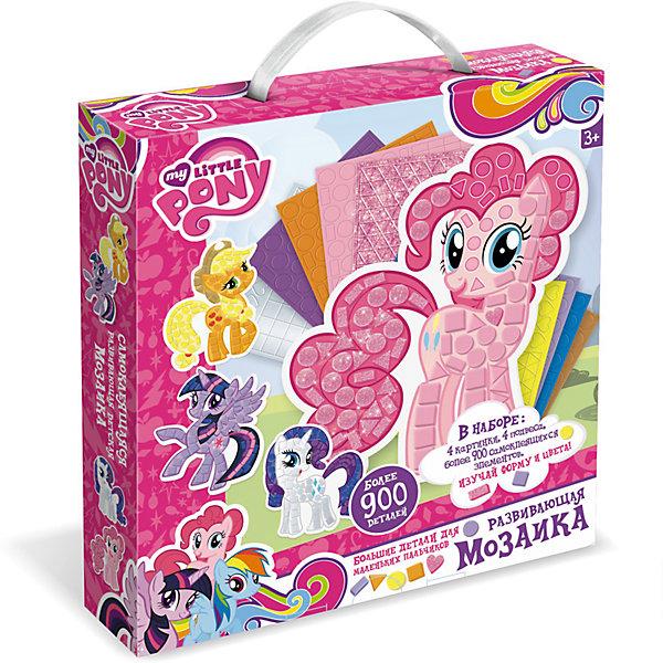 Мозаика-набор д/малышей «My little pony». Фигурная 3D аппликацияMy little Pony<br>Самоклеящаяся мозаика - хороший подарок для маленькой поклонницы мультсериала My little pony. Крупные детали удобно ложатся в ручку, а для того, чтобы украсить любимых пони, совсем не нужен клей! После украшения можно легко повесить картинку на стену.<br><br>Ширина мм: 250<br>Глубина мм: 228<br>Высота мм: 46<br>Вес г: 150<br>Возраст от месяцев: 36<br>Возраст до месяцев: 2147483647<br>Пол: Унисекс<br>Возраст: Детский<br>SKU: 7240732