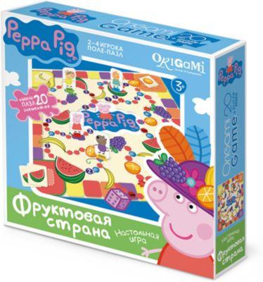 Origami Свинка Пеппа.Наст.игра.поле-пазл+Пазл20Эл.Фруктовая страна.01585