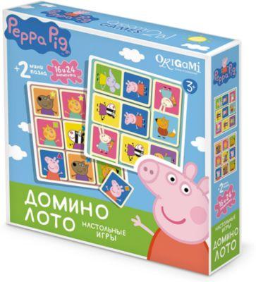 Origami Свинка Пеппа.Hабор.2в1.Лото,домино+2пазла.02641