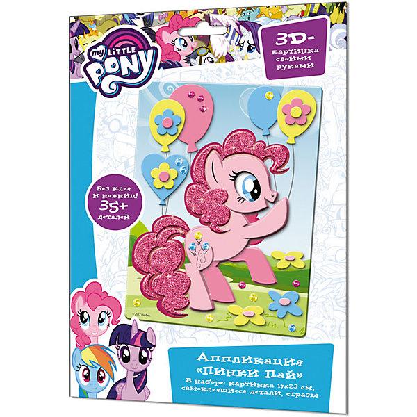 Аппликация из EVA Origami Чудо-Творчество My little pony Пинки ПайБумага<br>Характеристики товара:<br><br>• возраст: от 3 лет;<br>• герой: Мои маленькие пони;<br>• пол: для девочек;<br>• комплект: картинка, самоклеящиеся детали, стразы;<br>• из чего сделана игрушка (состав): картон, пластик, бумага;<br>• размер упаковки: 21х29,7х0,5 см.;<br>• упаковка: картонный конверт;<br>Размер картины: 25х17,5 см.;<br>• страна обладатель бренда: Россия.<br><br>Аппликация из страз «Пинки Пай» из серии «Май Литл Пони» от компании Origami несомненно придется по душе всем маленьким поклонницам знаменитого мультфильма.<br><br>Набор для творчества позволит девочкам изготовить яркую 3D картину своими руками, используя самоклеящиеся детали и стразы. <br><br>Такой вид игровой активности благотворно повлияет на усидчивость, аккуратность и концентрацию внимания. <br><br>Готовая поделка с изображением ярко-розовой земной пони из Понивилля сможет превосходно украсить интерьер детской комнаты.<br><br>Аппликацию из страз «Пинки Пай» из серии «Май Литл Пони» можно купить в нашем интернет-магазине.<br>Ширина мм: 175; Глубина мм: 250; Высота мм: 5; Вес г: 100; Возраст от месяцев: 36; Возраст до месяцев: 2147483647; Пол: Унисекс; Возраст: Детский; SKU: 7240768;