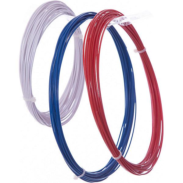 Комплект ABS-пластика ESUN 1.75 мм, (белый, синий, красный)Пластик для 3D ручек<br>Характеристики товара:<br><br>• в комплекте: 3 мотка пластика;<br>• тип пластика: ABS;<br>• возраст: от 8 лет;<br>• цвета: синий, белый, красный;<br>• длина мотка: 10 м;<br>• диаметр пластика: 1,75 мм;<br>• рабочая температура: 220-260° С;<br>• размер упаковки: 1х20х20см;<br>• страна производства: Китай.<br><br>Комплект ABS-пластика Esun подходит для 3D ручек любого типа. В набор входят 3 мотка пластика диаметром 1,75 мм, длиной 10 метров. В наборе 3 цвета пластика: белый, синий, красный. Температура плавления ABS пластика составляет 220-260 градусов.<br><br>Комплект ABS-пластика Esun (Есун) 1.75 мм, (белый, синий, красный) можно купить в нашем интернет-магазине.<br>Ширина мм: 200; Глубина мм: 200; Высота мм: 10; Вес г: 50; Возраст от месяцев: 96; Возраст до месяцев: 2147483647; Пол: Унисекс; Возраст: Детский; SKU: 7240971;