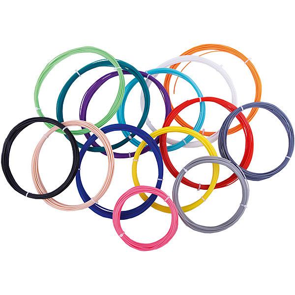 Комплект PLA-пластика ESUN 1.75 мм, 14 цветов по 9 метров (PLA175 Kits 3D Pens)Пластик для 3D ручек<br>Характеристики товара:<br><br>• в комплекте: 14 мотков пластика;<br>• тип пластика: PLA;<br>• возраст: от 8 лет;<br>• длина мотка: 9 м;<br>• диаметр пластика: 1,75 мм;<br>• рабочая температура: 220° С;<br>• размер упаковки: 7х20х20 см;<br>• страна производства: Китай.<br><br>Комплект PLA-пластика предназначен для рисования 3D ручками. В набор входят 14 мотков пластика длиной 9 метров. Пластик выполнен в разных цветах для воплощения любых дизайнерских идей. Толщина пластика - 1,75 мм. Температура плавления PLA-пластика составляет 220 градусов.<br><br>Комплект PLA-пластика Esun (Есун) 1.75 мм, 14 цветов по 9 метров (ABS175 Kits 3D Pens) можно купить в нашем интернет-магазине.<br><br>Ширина мм: 200<br>Глубина мм: 200<br>Высота мм: 70<br>Вес г: 550<br>Возраст от месяцев: 96<br>Возраст до месяцев: 2147483647<br>Пол: Унисекс<br>Возраст: Детский<br>SKU: 7240976