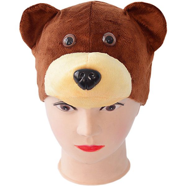 Маска Медведь бурыйДетские шляпы и колпаки<br>Маска-шапка для утренников и спектаклей, создает образ жителя леса. Шапка с ушками, глазками и объемной мордочкой, сшита из плюша с подкладой из хлопка.<br><br>Ширина мм: 450<br>Глубина мм: 80<br>Высота мм: 350<br>Вес г: 150<br>Возраст от месяцев: 36<br>Возраст до месяцев: 72<br>Пол: Унисекс<br>Возраст: Детский<br>SKU: 7241023