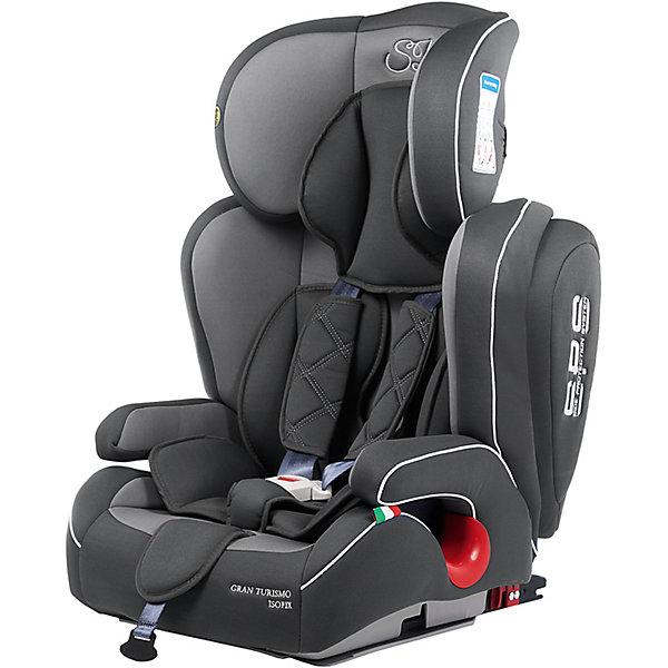 Автокресло Sweet Baby Gran Turismo SPS c Isofix, 9-36 кг, серыйГруппа 1-2-3  (от 9 до 36 кг)<br>Комфортное и безопасное автокресло для ребенка весом 9-36 кг. <br>Основные характеристики: <br>Изофикс для надежной фиксации кресла в машине<br>Усиленная боковая защита и защита головы элементами SPS<br>Две позиции наклона спинки<br>Регулировка подголовника в шести положениях<br>Возможность трансформировать автокресло в бустер<br>5-ти точечные ремни безопасности<br>Подстаканник<br><br>Ширина мм: 460<br>Глубина мм: 490<br>Высота мм: 700<br>Вес г: 9300<br>Возраст от месяцев: 9<br>Возраст до месяцев: 144<br>Пол: Унисекс<br>Возраст: Детский<br>SKU: 7241052