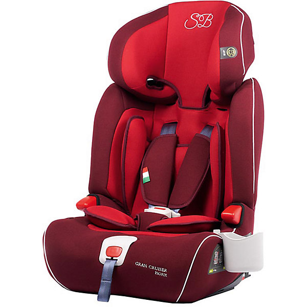 Автокресло Sweet Baby Gran Cruiser c Isofix, 9-36 кг, красныйГруппа 1-2-3  (от 9 до 36 кг)<br>Характеристики:<br><br>• группа: 1-2-3;<br>• вес ребенка: 9-36 кг;<br>• способ крепления: система IsoFix;<br>• способ установки: по ходу движения автомобиля;<br>• система 5-ти точечных ремней безопасности с мягкими накладками;<br>• фиксатор натяжения ремней;<br>• ремни безопасности регулируются по длине и высоте;<br>• по мере роста ребенка внутренние ремни безопасности снимаются, ребенок пристегивается штатным 3-х точечным ремнем безопасности автомобиля;<br>• съемный анатомический вкладыш с подушкой-подголовником для маленьких детей;<br>• усиленная боковая защита – Side Protection System;<br>• регулируемый по высоте подголовник – 6 положений;<br>• функция бустера: для детей весом от 22 до 36 кг, спинка снимается;<br>• бустер с подлокотниками;<br>• в комплекте подстаканник;<br>• чехлы съемные, стирка при температуре 30 градусов;<br>• материал: пластик, полиэстер, пенополиуретан PUR Foam (поглощение удара, ортопедический эффект;<br>• размер автокресла: 46х43х67 см;<br>• ширина сиденья: 31 см;<br>• размер упаковки: 43х45х69 см;<br>• вес автокресла: 7,7 кг;<br>• вес в упаковке: 8,75 кг.<br><br>Детское автокресло Sweet Baby Gran Cruiser с системой крепления Изофикс используется для путешествий с детьми, возраст которых от 9 месяцев до 12 лет. На каждом возрастном этапе автокресло Свит Беби Гран Краузер отвечает требованиям безопасности. Так, для малышей предусмотрен анатомический вкладыш и полноценная подушка-подголовник с усиленной защитой от боковых ударов, для старших детей имеется регулируемый по высоте подголовник, для совсем взрослых – бустер. Автокрело имеет съемную спинку - благодаря этому ребенок устраивается на кресле-бустере с подлокотниками. <br><br>Автокресло Sweet Baby Gran Cruiser c Isofix, 9-36 кг, красный можно купить в нашем интернет-магазине.<br><br>Ширина мм: 430<br>Глубина мм: 450<br>Высота мм: 690<br>Вес г: 8750<br>Возраст от месяцев: 9<br>Возраст до месяце