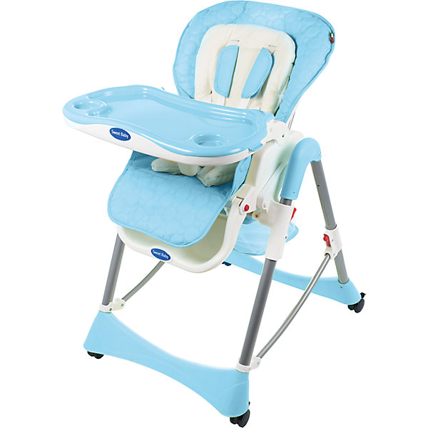 Стульчик для кормления Royal Classic, Sweet Baby, blueСтульчики для кормления с 0 месяцев<br>Характеристика товара:<br><br>• используется в качестве стульчика для кормления или шезлонга для сна<br>• регулируемая спинка - 3 позиции, максимальный угол наклона 150 градусов<br>• регулируемая по наклону подножка (3 положения)<br>• чехол из экокожи (снимается)<br>• вкладыш из гипоаллергенной ткани (снимается)<br>• сетчато-текстильная корзина для аксессуаров<br>• 5-точечные ремни безопасности с надежным замком и мягкими накладками<br>• съемная верхняя накладка на поднос и 2 углубления для посуды<br>• 4 колеса со стоперами<br>• компактные размеры и устойчивость в сложенном виде<br>• возраст: от 0 месяцев<br>• материал рамы: металл, пластик<br>• вес - 10,6 кг<br>• размер (ДхШхВ) - 59х79х102 см<br><br>Стульчик для кормления Sweet Baby Royal Classic - идеальное сочетание функциональности и удобства.<br><br>Эта практичная модель, которая имеет немало полезных функций, которые позволяют использовать ее не только в качестве обычного стульчика для кормления, но и как место для отдыха малыша.<br><br>Внимание! Второе и последующие фото являются дополнительными и показывают функционал товара. Оригинальным по цвету является 1-е фото.<br><br>Стульчик для кормления Sweet Baby Royal Classic можно купить в нашем интернет-магазине.<br><br>Ширина мм: 475<br>Глубина мм: 725<br>Высота мм: 275<br>Вес г: 12200<br>Цвет: голубой<br>Возраст от месяцев: 0<br>Возраст до месяцев: 36<br>Пол: Унисекс<br>Возраст: Детский<br>SKU: 7242471