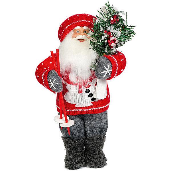 Дед Мороз с ЛыжамиНовинки Новый Год<br>Дед Мороз -  рождественская фигура. Выглядит очень естественно, со множеством мелких деталей. Отлично встанет под новогоднюю елку. Состав: нетканое полотно, плюш, пластмасса, дерево. Срок службы при надлежащем использовании - 5 лет.<br>Ширина мм: 470; Глубина мм: 240; Высота мм: 470; Вес г: 760; Возраст от месяцев: 60; Возраст до месяцев: 2147483647; Пол: Унисекс; Возраст: Детский; SKU: 7243052;