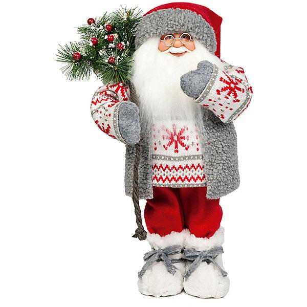 Дед Мороз в Свитере со СнежинкойЁлочные игрушки<br>Дед Мороз -  рождественская фигура. Выглядит очень естественно, со множеством мелких деталей. Отлично встанет под новогоднюю елку. Состав: нетканое полотно, плюш, пластмасса. Срок службы при надлежащем использовании - 5 лет.<br>Ширина мм: 470; Глубина мм: 250; Высота мм: 470; Вес г: 760; Возраст от месяцев: 60; Возраст до месяцев: 2147483647; Пол: Унисекс; Возраст: Детский; SKU: 7243054;