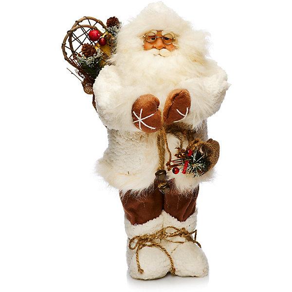 Дед Мороз в Белой Шубе с МешкомНовинки Новый Год<br>Дед Мороз - большая рождественская фигурка. Выглядит очень естественно, со множеством мелких деталей. Отлично встанет под новогоднюю елку. Состав: нетканое полотно, плюш, пластмасса, дерево. Срок службы при надлежащем использовании - 5 лет.<br>Ширина мм: 450; Глубина мм: 300; Высота мм: 450; Вес г: 685; Возраст от месяцев: 60; Возраст до месяцев: 2147483647; Пол: Унисекс; Возраст: Детский; SKU: 7243061;