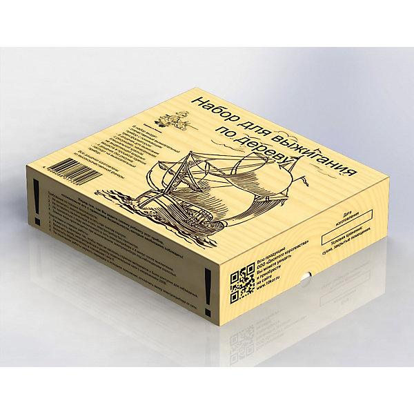 Выжигание. Набор для выжигания по дереву (аппарат, 10 досок)Наборы для выжигания<br>Характеристики:<br><br>• возраст: 7+;<br>• материал: металл, фанера;<br>• размер упаковки: 27,5х22х6,2 см;<br>• масса: 1,65 кг.<br><br>В состав набора входит российский прибор для выжигания с понижающим трансформатором. Прибор спроектирован для выжигания по дереву, у которого греется только «жало». Риск обжечься при работе с ним максимально снижен.<br><br>Набор продается вместе с 10 досками для выжигания. Для изготовления досок используется качественная фанера, рисунки на которой выполнены специальной немецкой краской, не выделяющей вредных веществ при горении (нагревании). Две доски пустые, а на восьми досках изображены сложные рисунки (с одной стороны). <br><br>Степень сложности рисунков разная, так что любой обладатель данного набора найдет себе картину по вкусу и уровню мастерства.<br><br>Выжигание. Набор для выжигания по дереву (аппарат, 10 досок), «Десятое королевство» можно купить в нашем интернет-магазине.<br><br>Ширина мм: 275<br>Глубина мм: 220<br>Высота мм: 62<br>Вес г: 1650<br>Возраст от месяцев: 84<br>Возраст до месяцев: 2147483647<br>Пол: Унисекс<br>Возраст: Детский<br>SKU: 7245658