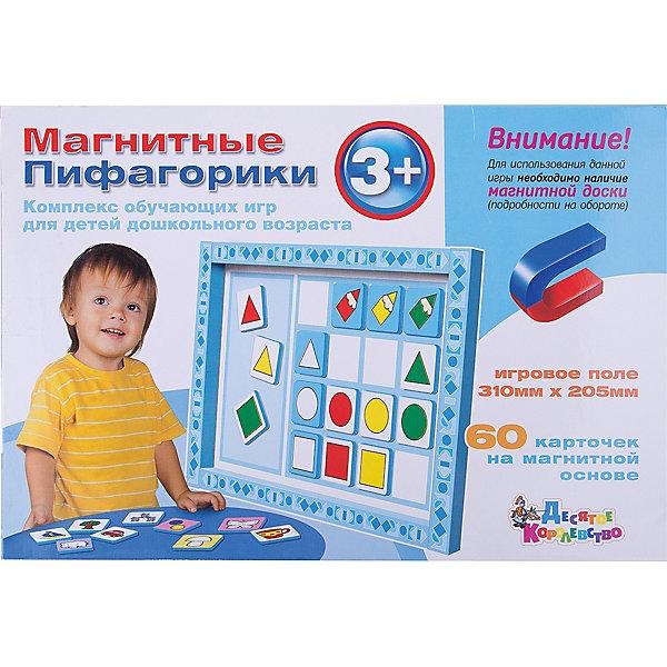 Магнитные Пифагорики 3+ Доп.набор (без магн.доски)Обучающие игры для дошкольников<br>Магнитные Пифагорики №1 - первая ступень обучающего комплекса игр «Пифагорики» для детей старше трех лет. Дополнительный набор отличается от основного арт. 01496 отсутствием магнитной доски. Если у вас уже имеется любая игра из серии «Пифагорики», планшет от нее подойдет к этому дополнительному набору и даст вам возможность сэкономить на покупке. Если же вы покупаете наши магнитные обучающие наборы впервые, либо покупаете их в подарок, предпочтительнее приобрести полноценную игру «Пифагорики 3+» арт.01496 с магнитной доской. <br>   Игровой комплекс построен на принципе таблицы Пифагора и постепенно подготавливает ребенка к более сложным понятиям, изучать которые ему предстоит в школе. В процессе занятий с «Пифагориками» ребенок получит первые знания о математическом счете, запомнит первые три цифры, познакомится с тремя геометрическими фигурами и цветами радуги. В процессе занятий дети тренируют пространственно-образное мышление, учатся сравнивать предметы по принципу «больше-меньше». «Пифагорики» способствуют раннему развитию математических способностей и логики. <br>   В набор входит 60 магнитных карточек с яркими изображениями. Большим плюсом игры является наглядность, простота и доступность материала для обучения. В инструкции вы найдете несколько вариантов развивающих игр на запоминание цветов, фигур, счет, сравнение предметов, на развитие памяти и внимания. Пифагорики – уникальная обучающая игра в интересной для детей форме развивающая логику, память, интеллектуальные способности малыша.<br>Ширина мм: 315; Глубина мм: 215; Высота мм: 10; Вес г: 290; Возраст от месяцев: 684; Возраст до месяцев: 2147483647; Пол: Унисекс; Возраст: Детский; SKU: 7245684;