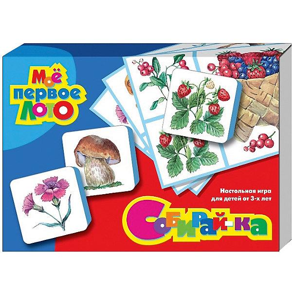 Лото Мое первое лото. Собирай-ка (мягк.)Лото<br>Характеристики:<br><br>• возраст: 3+;<br>• размер упаковки: 28x19,5x4,5 см;<br>• масса: 250 г.<br><br>В этот набор входят 10 игр, которые познакомят малышей с окружающим миром. Правила игр прилагаются в комплекте.<br><br>Для использования карточек необходимо отрезать от прилагаемой магнитной ленты кусочки, снять с каждого из них защитный слой и наклеить с обратной стороны карточки. Готовые карточки хорошо фиксируются на любой гладкой металлической поверхности. <br><br>Познавательная игра способствует развитию внимания, наблюдательности, усидчивости и логического мышления.<br><br>Лото «Мое первое лото. Собирай-ка» (мягкое), «Десятое королевство» можно купить в нашем интернет-магазине.<br><br>Ширина мм: 280<br>Глубина мм: 195<br>Высота мм: 45<br>Вес г: 250<br>Возраст от месяцев: 684<br>Возраст до месяцев: 2147483647<br>Пол: Унисекс<br>Возраст: Детский<br>SKU: 7245712