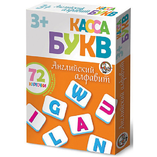 Касса букв на магнитах Английский алфавит 72 эл (мягк.)