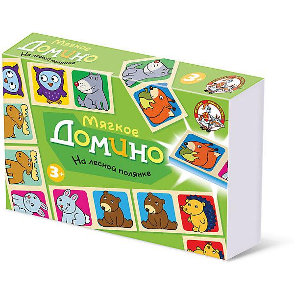 Домино мягкое На лесной полянкеДомино<br>Домино На лесной поляне - интересная игра и замечательная возможность родителей увлекательно и с пользой провести время со своим ребенком. Игра научит ребенка играть в коллективе, поможет развить у него логику, наблюдательность, способность к анализу ситуации. <br>     Правила игры в домино очень простые, поэтому даже малыши с легкостью запомнят их с удовольствием изучат названия и изображения лесных зверюшек.<br>     В домино играют от 2-х до 5 детей. Для двух игроков сдают по 7 косточек (фишек), если игроков больше, то по пять, из оставшихся фишек создается базар (банк). Первый ход начинает ребенок, у которого есть фишки с одинаковыми картинками (дубль). Если такие фишки есть у нескольких игроков или нет ни у кого, игру начинает младший из детей. Первую фишку ставят в центре игрового поля, если эта фишка- дубль, то ее размещают поперек игрового поля. Дальше все по очереди выкладывают картинку к картинке с любого края дорожки. У кого нет нужной картинки, берет фишки в банке до тех пор пока не найдет подходящую. Выигрывает тот, кто первый положит на стол свою последнюю фишку. <br>     Может сложиться такая ситуация, когда на стол выложить совсем нечего, а на руках у всех есть фишки. Такая ситуация называется рыбой. В ситуации рыба выигрывает тот, у кого на руках осталось меньше фишек. Играйте и выигрывайте!<br><br>Ширина мм: 280<br>Глубина мм: 195<br>Высота мм: 45<br>Вес г: 200<br>Возраст от месяцев: 684<br>Возраст до месяцев: 2147483647<br>Пол: Унисекс<br>Возраст: Детский<br>SKU: 7245722
