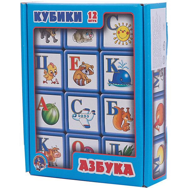 Выдувка. Кубики с бортиком Азбука 12 эл (5,5 см)Кубики<br>Характеристики:<br><br>• возраст: 3+;<br>• размер упаковки: 21x17x5,5 см;<br>• масса: 320 г.<br><br>В этом наборе представлены 12 кубиков с буквами русского алфавита и картинками. Кубики изготовлены из легкого выдувного пластика и предназначены для детей от 3 лет.<br><br>Это классическая игра для обучения ребенка буквам и чтению.<br> <br>Рисунки животных, птиц и предметов, которые начинаются с нужных букв алфавита, выполнены детским художником Людмилой Двининой. Их ни с чем не спутаешь и никак по-другому ни назовешь, что важно для ребенка. Даже строя башенки и домики из кубиков, ребенок непроизвольно запомнит буквы алфавита.<br><br>Выдувка. Кубики с бортиком «Азбука», 12 элементов (5,5 см), «Десятое королевство» можно купить в нашем интернет-магазине.<br><br>Ширина мм: 210<br>Глубина мм: 170<br>Высота мм: 55<br>Вес г: 320<br>Возраст от месяцев: 420<br>Возраст до месяцев: 2147483647<br>Пол: Унисекс<br>Возраст: Детский<br>SKU: 7245754