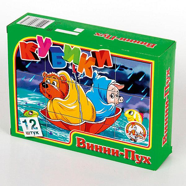 Кубики Винни-Пух (без обклейки) 12 штКубики<br>Характеристики:<br><br>•возраст: 3+;<br>•размер кубиков: 4 см; <br>•количество кубиков: 12 шт.;<br>• размер упаковки: 16,6x12,6x4,2 см;<br>• масса: 210 г.<br><br>Детские игровые кубики с рисунками, выполненными методом прямой печати на первичный пищевой полистирол. Яркие кубики не имеют запаха и абсолютно безопасны для малышей.<br><br>С помощью набора этих кубиков мальчики и девочки смогут собрать шесть милых картинок.<br><br>Игра развивает наблюдательность, внимание, сообразительность и способность к анализу ситуации.<br><br>Кубики «Винни-Пух» 12 шт, (без обклейки), «Десятое королевство» можно купить в нашем интернет-магазине.<br><br>Ширина мм: 166<br>Глубина мм: 126<br>Высота мм: 42<br>Вес г: 210<br>Возраст от месяцев: 420<br>Возраст до месяцев: 2147483647<br>Пол: Унисекс<br>Возраст: Детский<br>SKU: 7245779