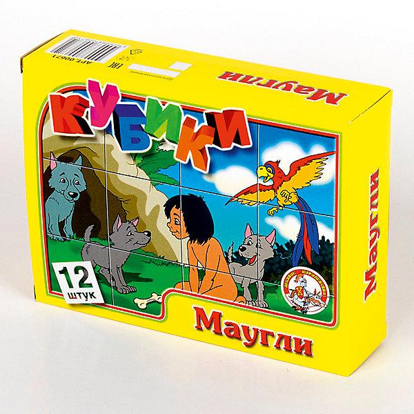 Купить Кубики Маугли (без обклейки) 12 шт, Десятое королевство, Беларусь, Унисекс