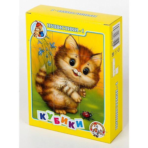 Кубики Пушистики-1 (без обклейки) 12 штКубики<br>Набор «Пушистики-1» состоит из 12 пластмассовых кубиков картинок размером 4 см.<br>Собрать шесть красочных картинок с изображением милых пушистых зверушек - белочки, котенка, щенка, медвежонка, мышонка и тигренка из двеннадцати кубиков вполне по силам любому ребенку в возрасте от трех лет. Особенно, если он ранее уже собирал картинки из 4, 6 или 9 кубиков.<br>В результате игровой деятельности малыш прекрасно развивает внимание, память, речь, воображение, расширяет кругозор и словарный запас.<br>Картинки в наборе пластмассовых кубиков «Пушистики-1» выполнены по технологии прямой печати (без обклейки), поэтому изображения на кубиках более долговечные, меньше подвержены абразивному износу и еще долго будут радовать малыша сочными и яркими красками.<br><br>Ширина мм: 166<br>Глубина мм: 126<br>Высота мм: 42<br>Вес г: 180<br>Возраст от месяцев: 420<br>Возраст до месяцев: 2147483647<br>Пол: Унисекс<br>Возраст: Детский<br>SKU: 7245796